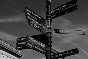 Signpost in Buxton