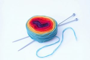 Our equality and diversity policy: Rainbow heart yarn ball